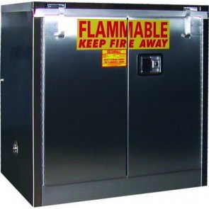 Stainless Clean Room Ready Storage Cabinet  30 Gal. Self-Close  Self-Latch Safe-T-Door