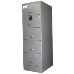 Five (5) Drawer Class 6 Security Safe / Filing Cabinet
