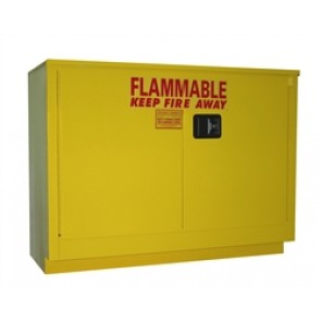 Under Counter OSHA Approved Flammable Storage Cabinet  36 Gal. Self-Latch Standard 2-Door