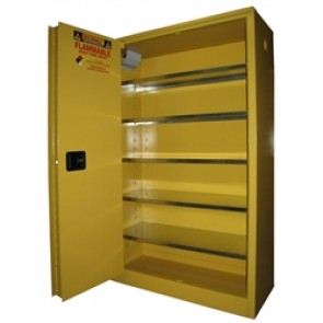 OSHA Approved Storage Cabinet for 60  - 1 Gallon Paint & Ink Cans. Self-Close  Self-Latch Sliding Door