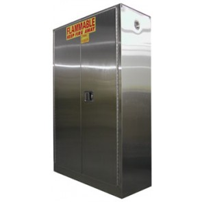 Stainless Steel Storage Cabinet for Flammables  60 Gal. Self-Close