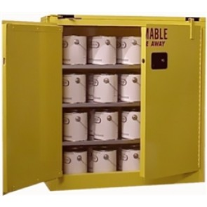 Flammable Paint & Ink Storage Cabinet Securall 40 Gal. Self-Close  Self-Latch Safe-T-Door