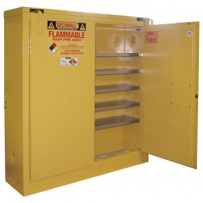 Wall Mount Flammable Safety Cabinet  24 Gal.  Yellow