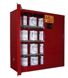 Paint Can and Ink Storage Cabinet  OSHA Approved  40 Gal. Self-Latch Standard 2-Door