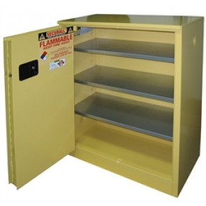 Paint Can and Ink Storage Cabinet  OSHA Approved 40 Gal. Self-Close  Self-Latch Sliding Door