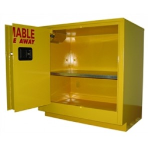 Under-counter Flammable Storage Cabinet  24 Gal. Self-Close  Self-Latch Sliding Door