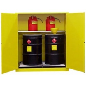 V1110 Holds 2 55 Gallon Drums + 2 Safety Cans